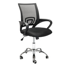 Mesh Office Swivel Chair Padded Seat Ergonomic Design Meeting Room Computer Adjustable Height Chair