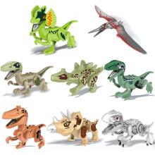Early childhood educational toys 8 Pack Dinosaur DIY Building Blocks Action Figures Playset DIY Toys