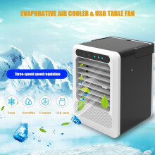 Car Home Dual-use Air Cooler Portable Small Air Conditioner USB Small Fan with 3 Speeds Wind Adjusta