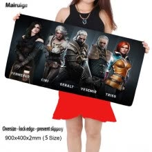 mouse-pads-Mairuige Witcher 3 Gaming 900X400X3MM Large Mouse Pad Locking Edge Mousepad Mat for Dota2 CS Mouse Mice Pad for Game Player As Gif on JD