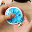 ORZ Portable Pill Medicine Box Travel Weekly Rotating Pill Case Organizer Medicine Storage Kit Dispenser Holder Box Drugs Tools