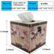 Wooden Retro Tissue Box Holder Tissue Box Cover Case Napkin Dispenser