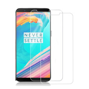 GiGiboom 2pieces For OnePlus 5T Screen Protector, Tempered Glass Screen Protector Case Friendly 9H Anti Scratch screen Film