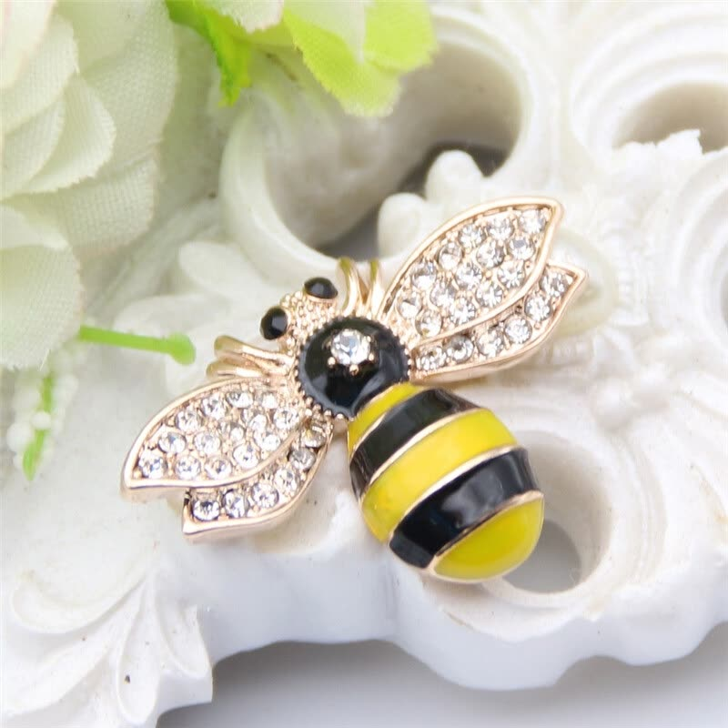 Shop Cute Bee Brooch Pin Women Lapel Pins Flies Insect Christmas ...