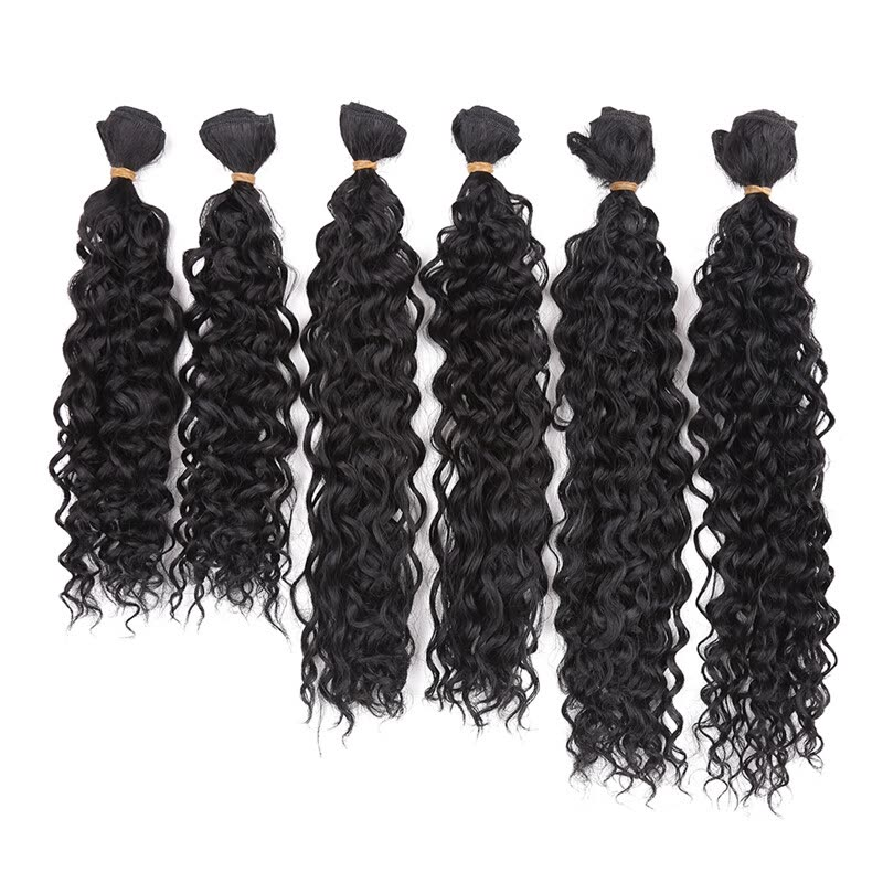 14 18inch Jerry Curly Hair Weave Synthetic Sew In Hair Extensions