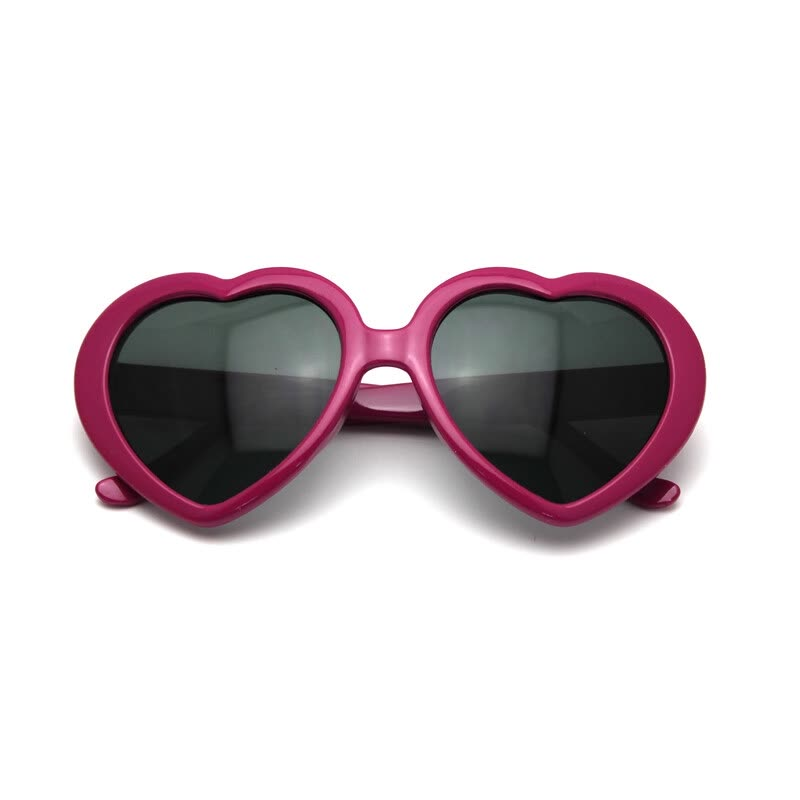 Vanker Cute Heart-Shaped Plastic Frame Retro Sunglasses Eyeglasses ...