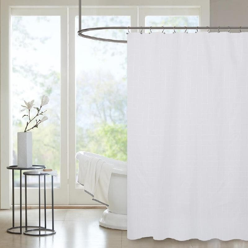 Htovila 72x72 Polyester Waterproof Mildewproof Shower Curtain Decorative Privacy Protection Bathroom With 12pcs Hooks