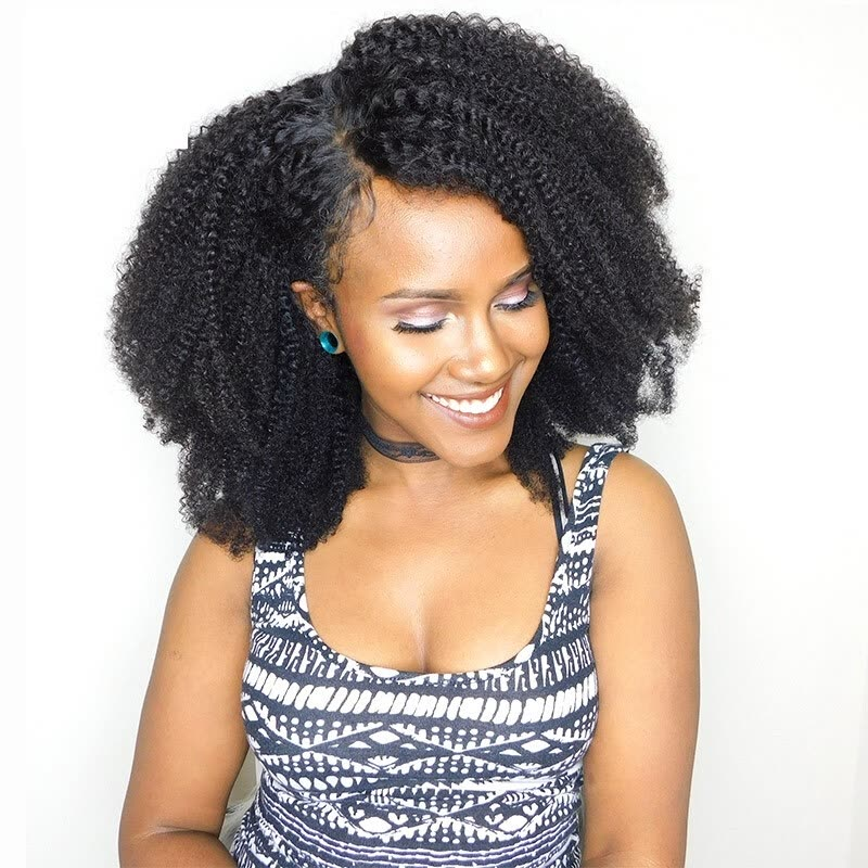 Afro Kinky Curly Clip In Human Hair Extensions Brazilian Virgin