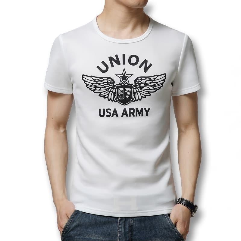 544e54c09aef Fashion Mens T Shirt Slim Fit Crew Neck Space Cotton 2016 T-shirt Men Short