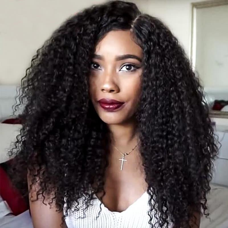 7a Mongolian Afro Kinky Curly Hair 4 Bundles Mongolian Hair Weave