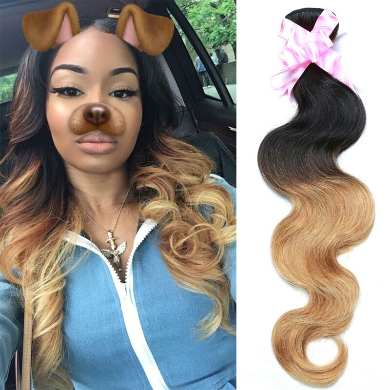 Maylasian Body Wave 7a Ombre Human Hair Extensions Body Wave