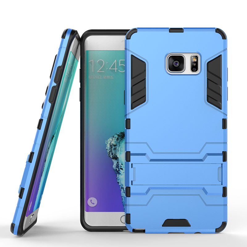 Blue Slim Robot Armor Kickstand Shockproof Hard Rugged Rubber Back Case For SAMSUNG GALAXY Note 7