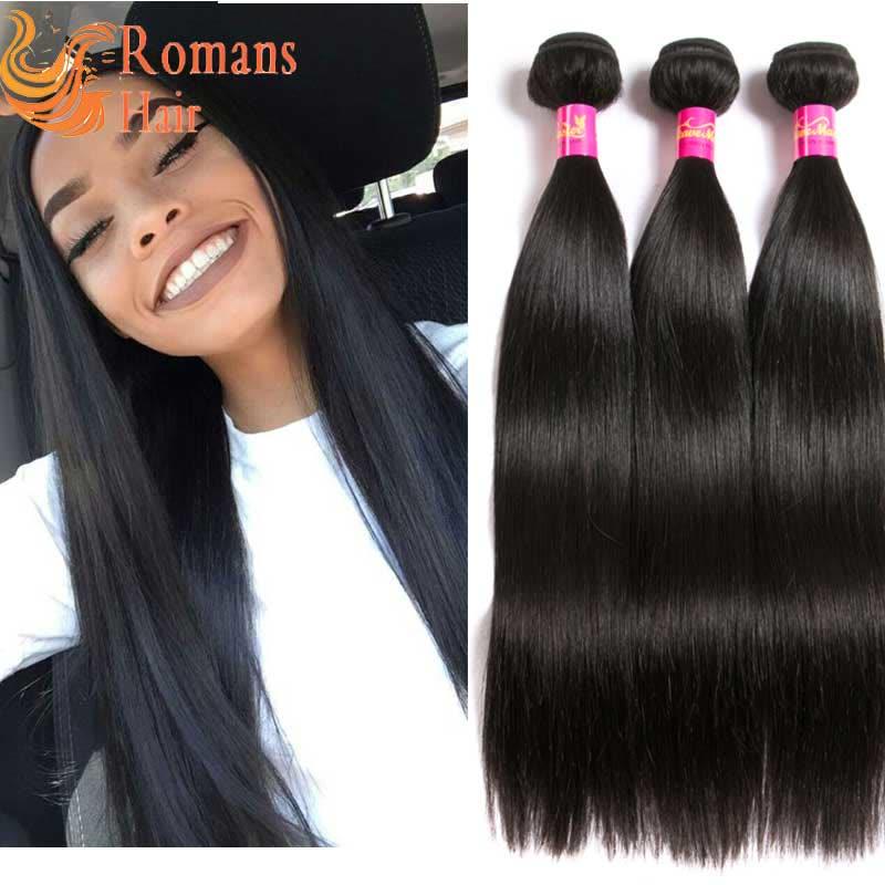 Weave Master Straight Peruvian Hair Weave Bundles Remy Human Hair