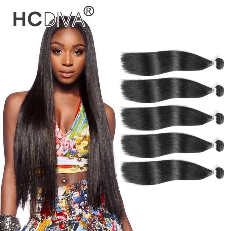 Hcdiva 5 Pcs Hot Sale Hair Weaving Unprocessed 100 Human Virgin