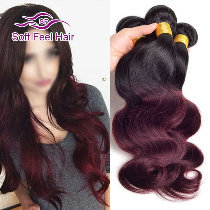 Shop 99j Quick Weave Peruvian Body Wave Human Hair With 99j Lace