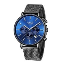 -LIGE 9894 Fashion Men Watch Top Brand Luxury Quartz Watch Men Casual Slim Dress Waterproof Sport Wristwatch Relogio Masculino on JD