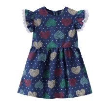 -2019 Summer Toddler Kids Baby Girl Vintage TOP SALE Fashion Style Ruffle Sleeve Short Sleeve Printing Floral Fruit Dresses 0-4Y on JD