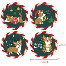 -4pcs Merry Christmas Wall Sticker Self-Adhesive Window Glass Stickers New Year Santa Claus Christmas Decorations for home decor on JD