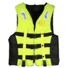 -Adult Swimming Boating Drifting Safety Life Jacket Vest with Whistle L-2XL on JD