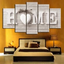 -Unframed 5 Panels Wall Art of Home Painting Pictures Prin on JD