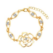 -Flower Rhinestone Bracelet Zircon Camellia Temperament Fashion Bracelet Exquisite Gift Bracelet Ladies Jewelry on JD