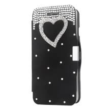-Magnetic Flip PU Leather Hard Skin Ultra Slim Pouch Wallet Case Cover Bling Diamond Rhinestone Crystal for 5.5' Apple iPhone 6 Plu on JD