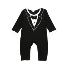 -Spring Autumn New Infant Baby Kids Boys Long Sleeve Gentleman Cotton Romper Casual Suit Style Comfortable High Quality Rompers on JD