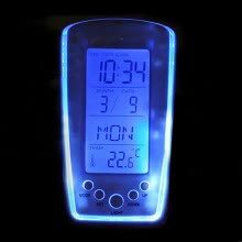 -New Digital Backlight LED Display Table Alarm Clock Snooze Thermometer Calendar on JD