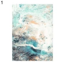 -Unframed Abstract Canvas Painting Living Room Bedroom Picture Poster Wall Decor on JD