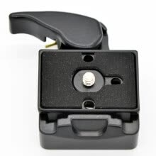 -Camera 323 Quick Release Clamp Adapter + Quick Release Plate Compatible for Manfrotto 200PL-14 Compat Plate on JD