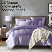 -Solid Color Twin Queen King Bed Quilt Duvet Cover Pillow Case Home Bedding Set on JD