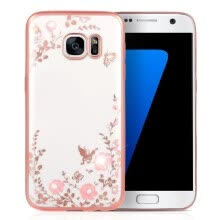-KKMOON Shell Case Protective Plated Back Cover Ultrathin Lightweight TPU Fashion Bling Bumper for Samsung Galaxy S7 on JD