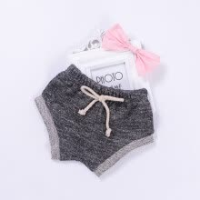 -Baby Girls Boys PP Breath Pants Casual Summer Soft Cotton Bow Candy Color Drawstring Cute Shorts 0-24M Cute Newborn Baby Clothes on JD