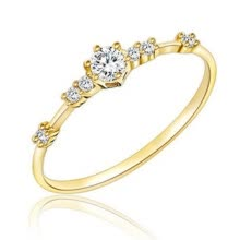 -Women Fashion Plating Rhinestone Inlaid Finger Ring Party Jewelry Wedding Gift on JD