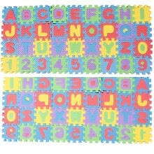 -36pcs Soft Foam Baby Play Mat Alphabet Number Children Puzzle Jigsaw Learning on JD