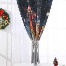 -Christmas  Curtain Tulle Window Treatment Voile Drape Valance 1 Panel Fabric on JD