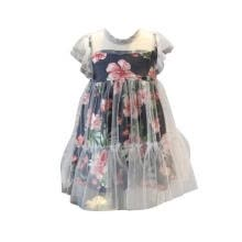 -Hot Summer Casual Baby Girls Mesh Design Flower Print Dress Kids Toddler Sleeveless Pageant Sundress on JD