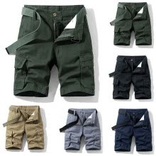 -Men  Button New Style  Cotton Multi-Pocket Overalls Shorts Fashion Pant on JD