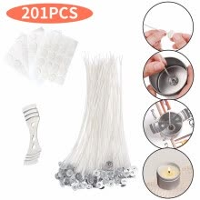 -201pcs DIY Candle Set With Wick, Sticker, Wick Holder for Party Wedding Rooms on JD