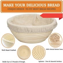 -Proofing Basket Sourdough Baking Set Perfect For Making Homemade Bread 18x9CM on JD