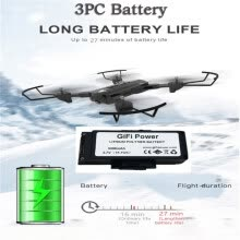 -3PC 3.7v 3000mah RC Battery Foldable GPS Drone Accessories Battery For SG900 on JD