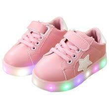 7caec32ad080 Детская обувь Мальчики и девочки Красочные мигающие светодиоды Блестящие  туфли для детей Антискользящие модные корейские кроссовки