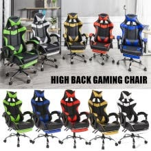 -Racing Style Gaming Chair High-Back Office Chair Office Furniture Reclining Ergo on JD