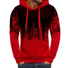 -Autumn and winter fashion new men's casual handsome cool cotton camouflage printed hooded Top on JD
