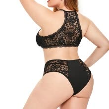 -Women's Plus Size Sexy Black Lace Spaghetti Strap Bodysuit Tights Lingerie on JD