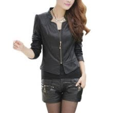 -Autumn/Winter  Korean Women PU Leather Clothing BomberJacket  Female Slim Motorcycle Leather Coat Chaquetas Mujer on JD