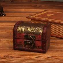 -Jewelry Box Vintage Wood Handmade Box With Mini Metal Lock For Storing Jewelry Treasure Pearl on JD