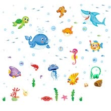 -Wall Sticker DIY Removable Underwater world Wall Decal Family Home Sticker Mural Art Home on JD