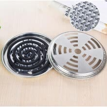 -Perfect World Mosquito Coil Holder Stainless Steel Mosquito Coil Holder With Support Nails And Hollow Cover 2 PCS on JD