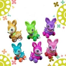 -Kids Colorful Cartoon Animal Wind-Up Spring Toy Mini Deer on JD